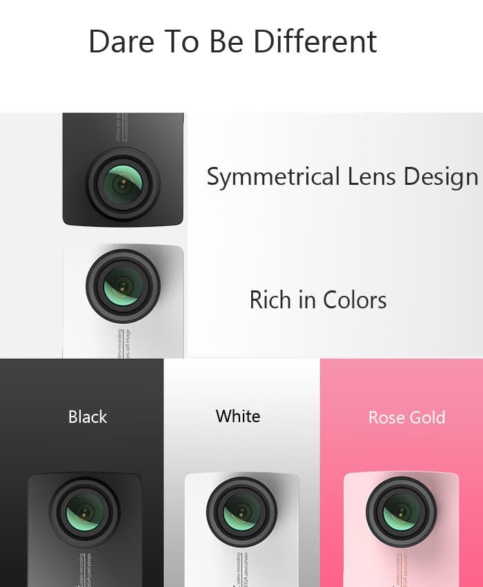Die Xiaomi Yi 4K ist in den Farben schwarz, weiß und Rosegold verfügbar.