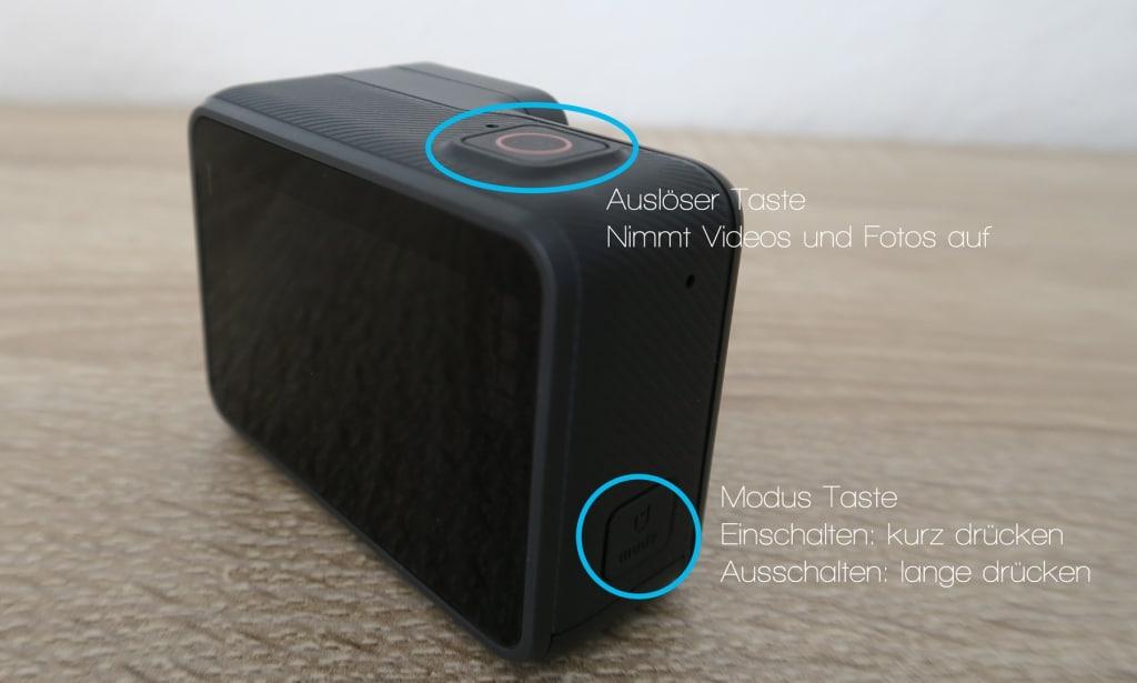 GoPro Hero 5 Black Auslöser und Modus-Tasten