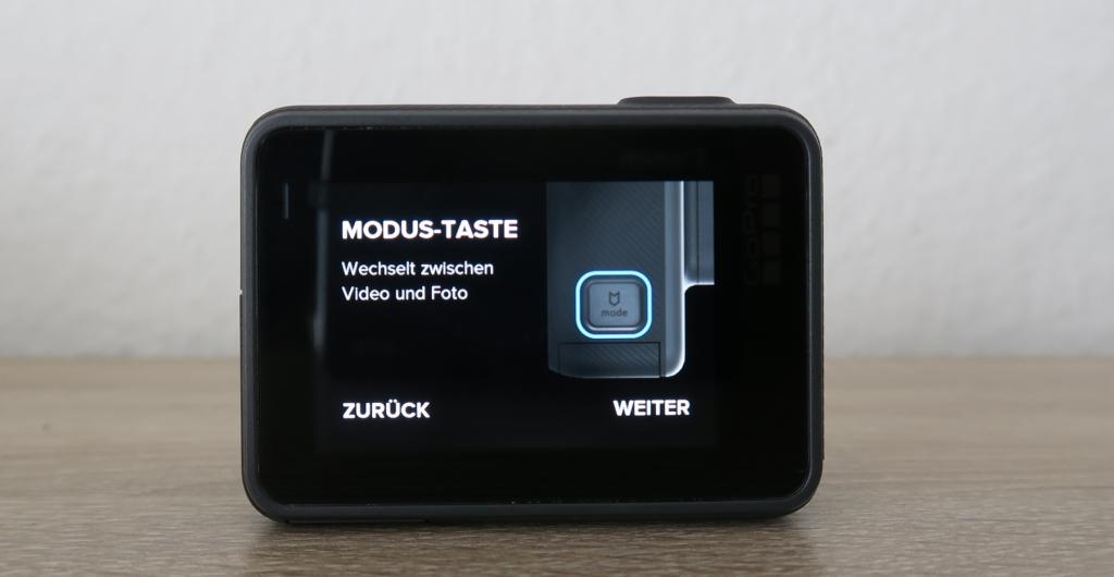 GoPro Hero 5 Black Modustaste / Wechsel zwischen Video und Foto
