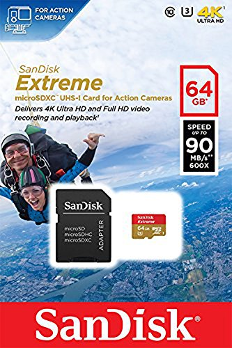 SanDisk Extreme 64GB microSDXC für Actioncams bis zu 90 MB/s -
