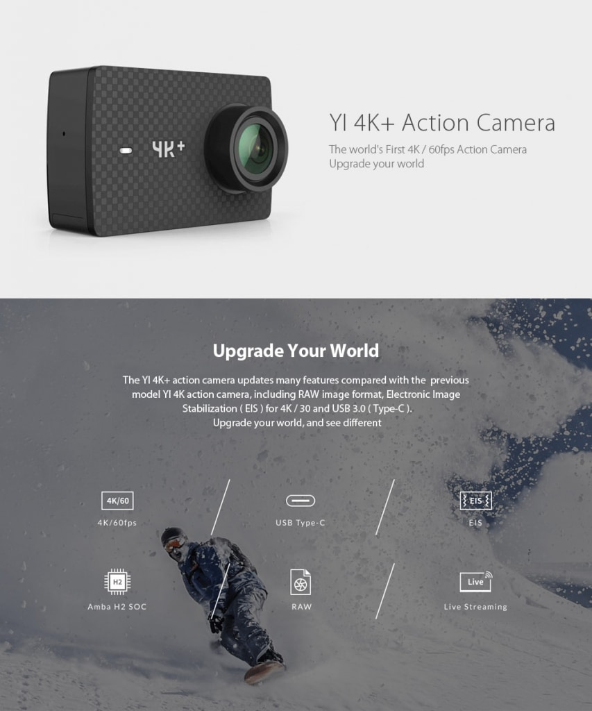 Xiaomi YI 4K Plus Acktionkamera
