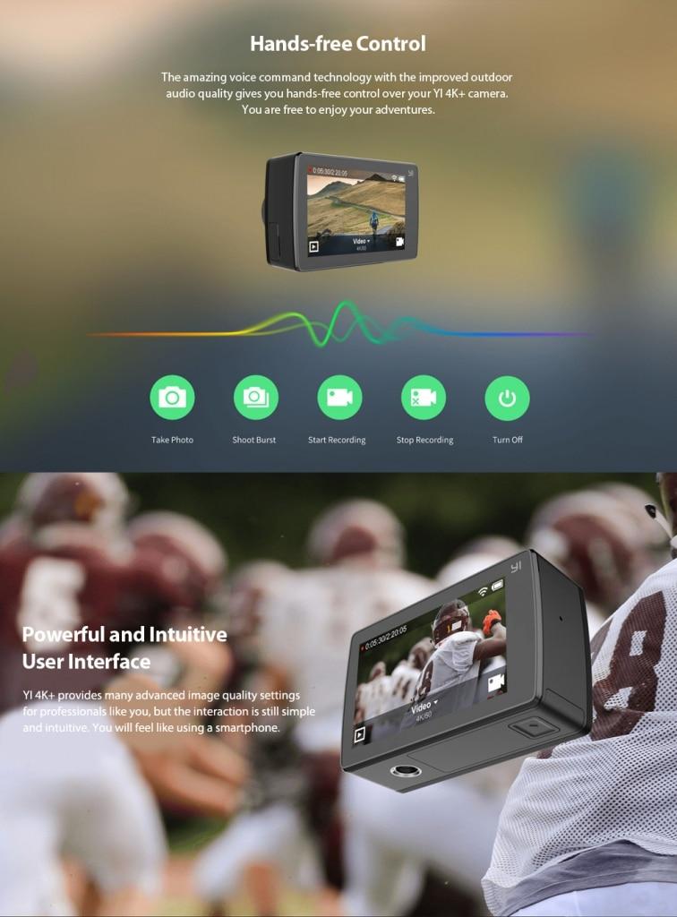 Xiaomi YI 4K Plus Acktionkamera Sprachsteuerung